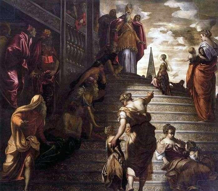 Введення Марії у храм   Якопо Тінторетто
