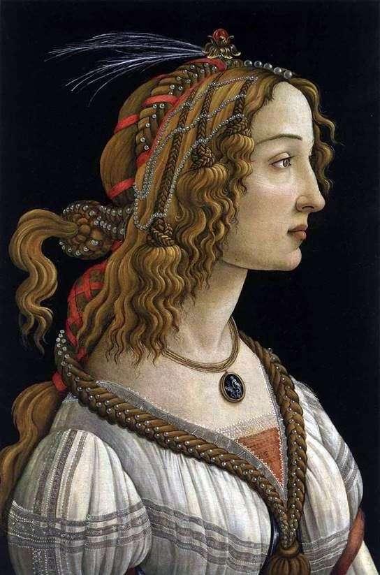 Портрет молодої жінки   Сандро Боттічеллі
