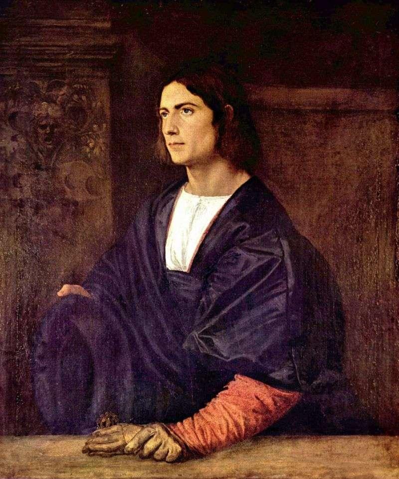Портрет молодої людини   Тіціан Вечелліо