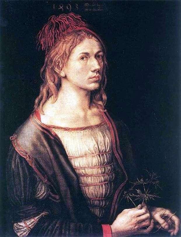 Автопортрет 1493 рік   Альбрехт Дюрер