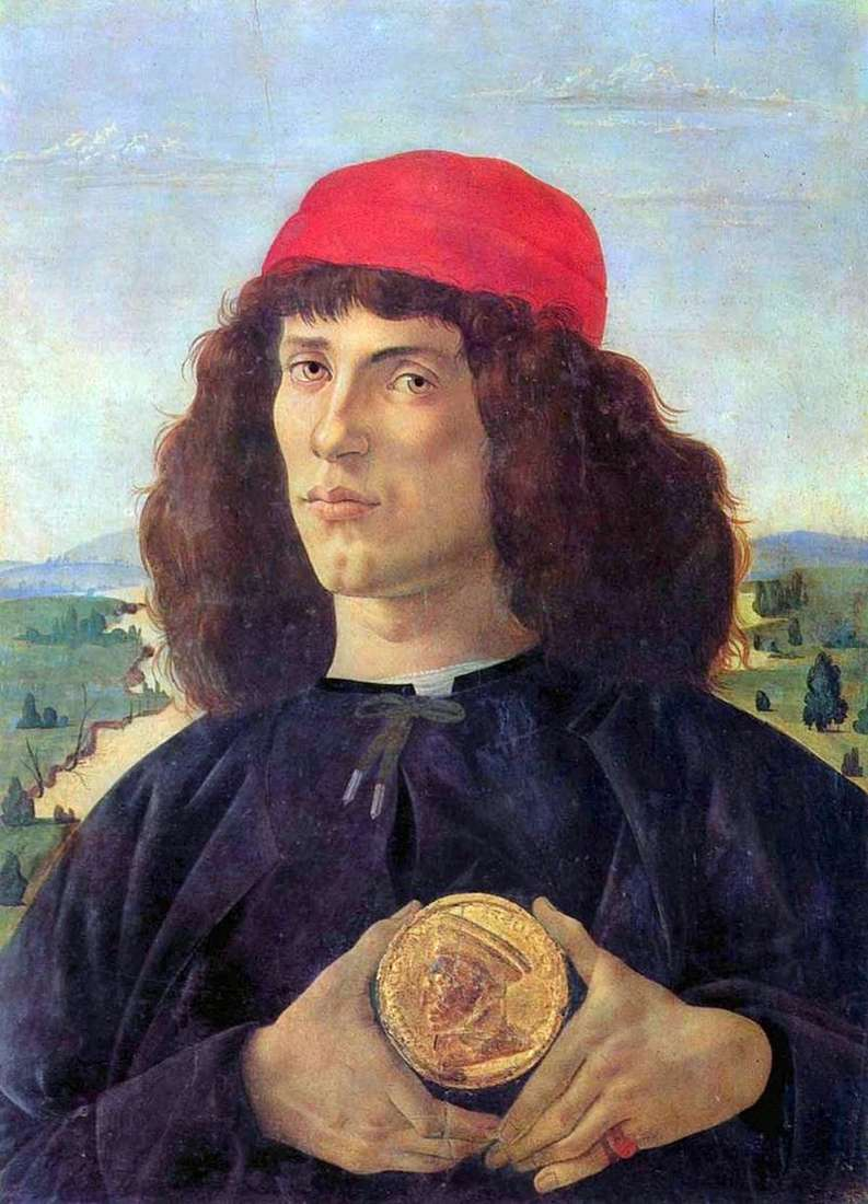 Портрет чоловіка з медаллю   Сандро Боттічеллі