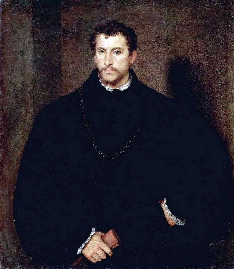 Портрет молодої людини (Портрет Іпполіто Рімінальді)   Тіціан Вечелліо
