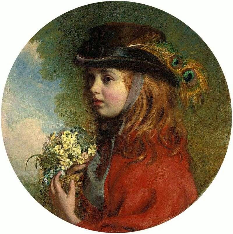 Весна (портрет дівчинки з букетом)   Генрі Хетерінгтон Еммерсон