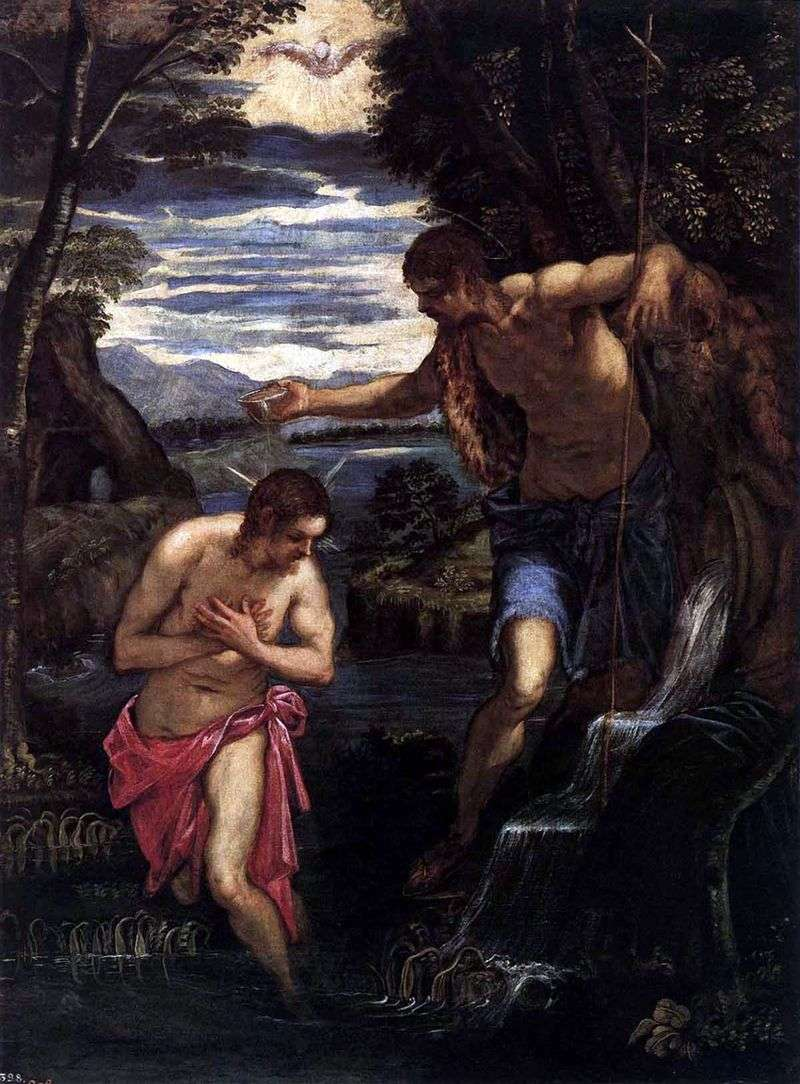 Хрещення Христа   Якопо Тінторетто