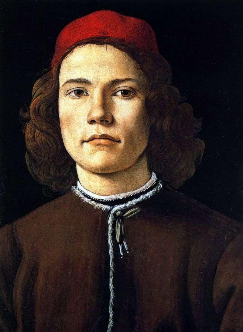 Портрет юнака   Сандро Боттічеллі