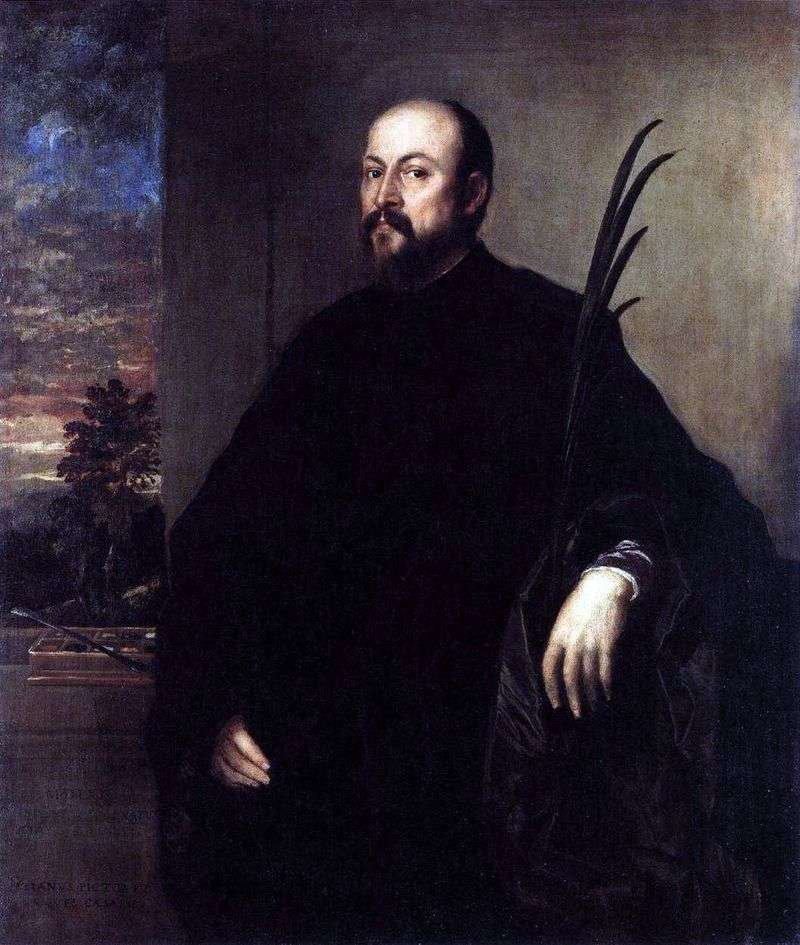 Портрет чоловіка з пальмовою гілкою   Тіціан Вечелліо