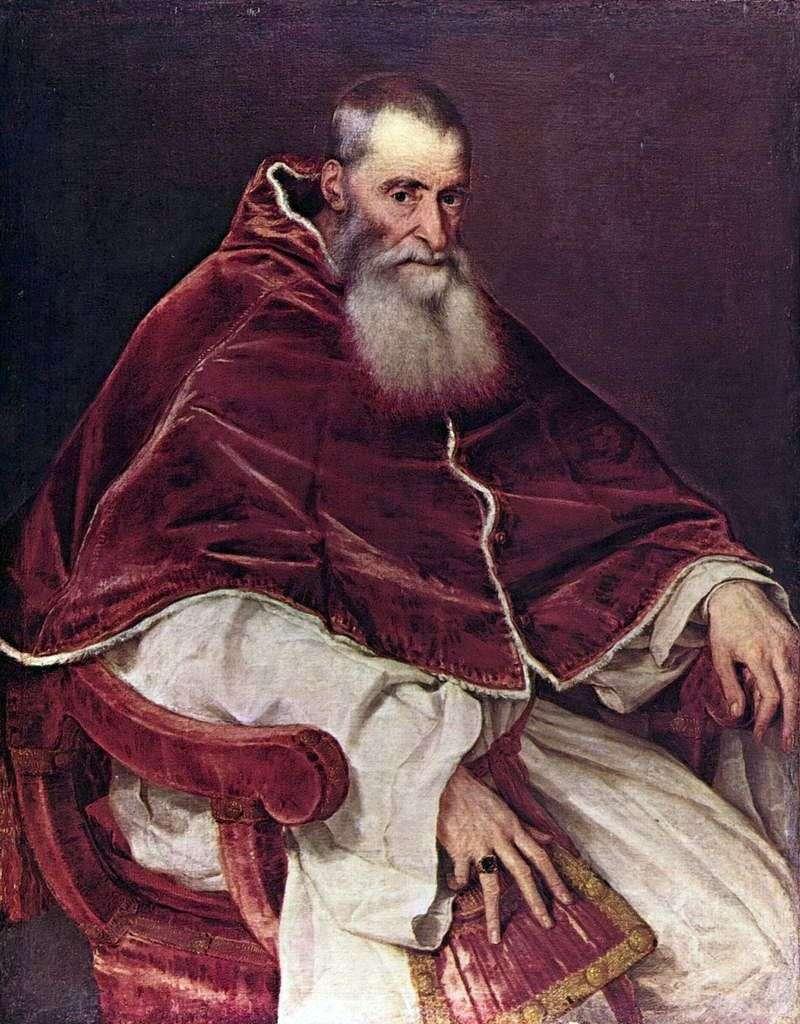 Портрет Павла III   Тіціан Вечелліо
