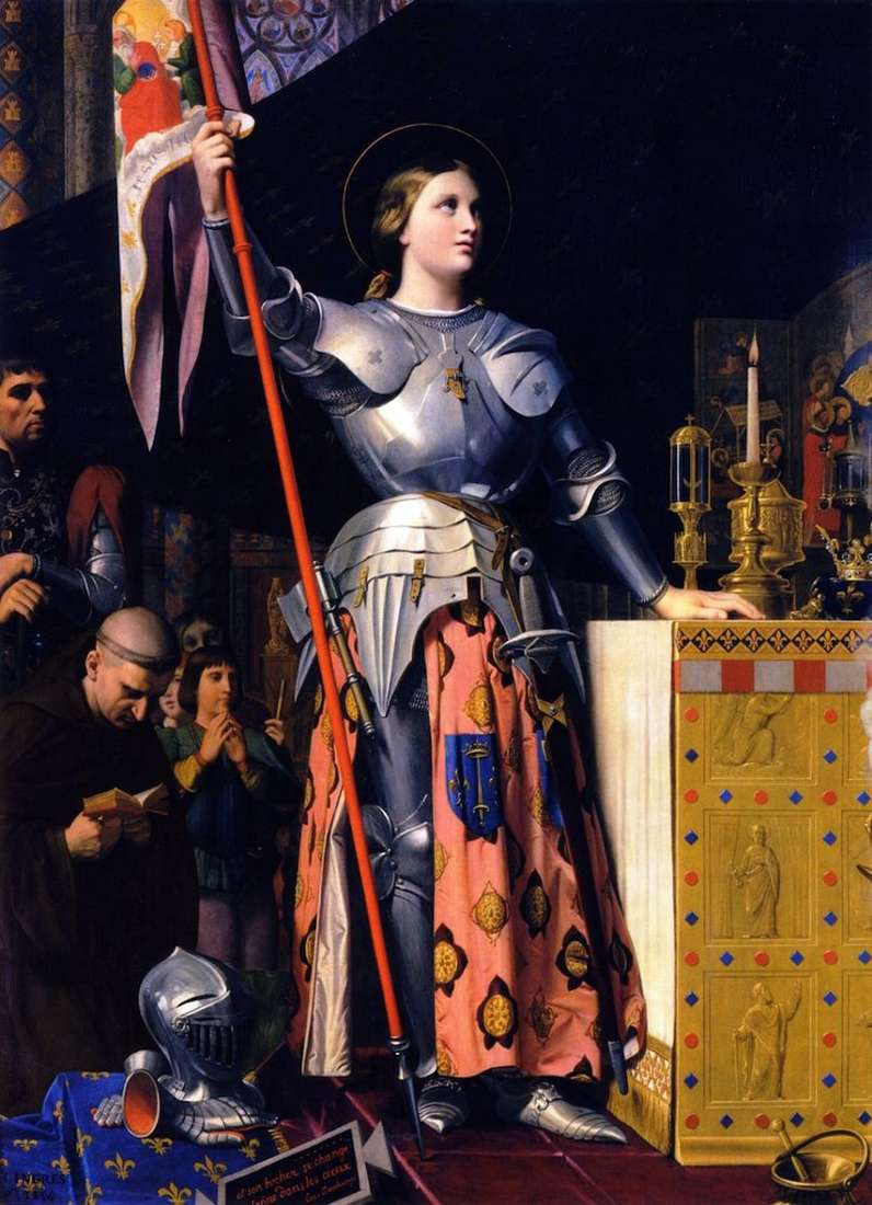 Жанна дарк на коронації Карла VII   Жан Огюст Домінік Енгр