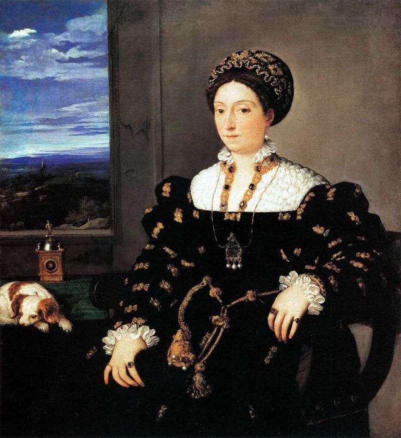 Портрет урбинской герцогині Елеонори Гонзага   Тіціан Вечелліо