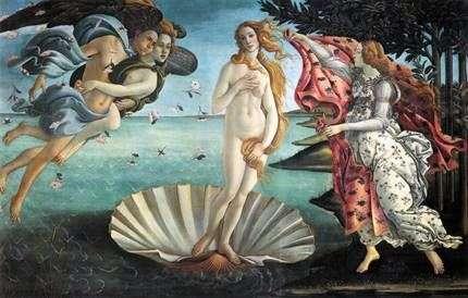 Народження Венери   Сандро Боттічеллі