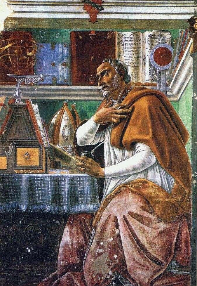 Святий Августин Блаженний   Сандро Боттічеллі