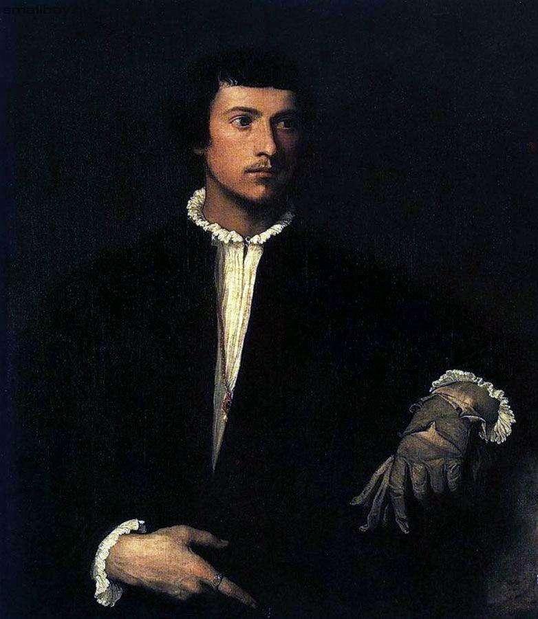 Портрет юнака з розірваною рукавичкою   Тіціан Вечелліо