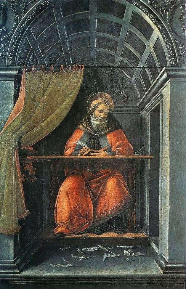 Святий Августин, пише в своїй келії   Сандро Боттічеллі