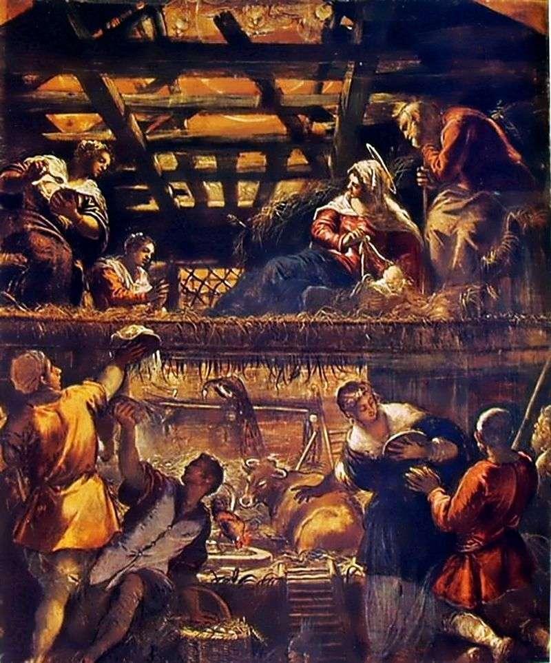 Поклоніння пастухів   Якопо Тінторетто