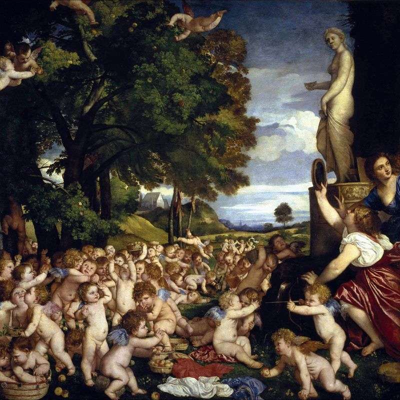 Свято Венери (Вакханалія немовлят)   Тіціан Вечелліо