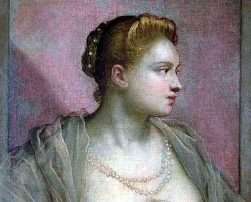 Портрет молодої жінки   Якопо Тінторетто