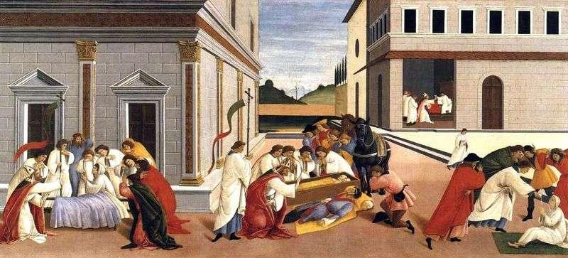 Три чуда святого Зиновія   Сандро Боттічеллі