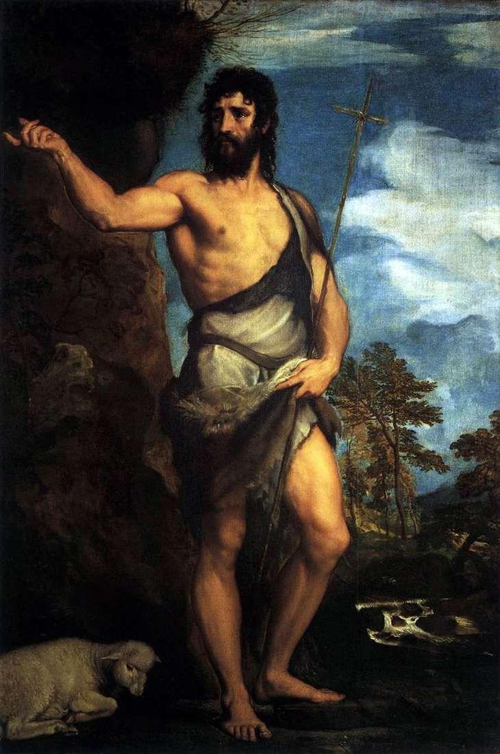 Св. Іоанн Хреститель в пустелі   Тіціан Вечелліо