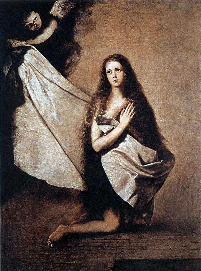 Свята Інесса і ангел вкриває її покривалом   Хусепе Рібера