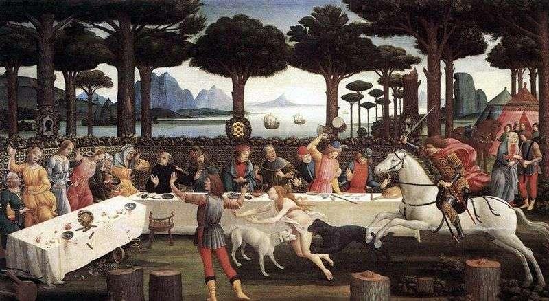 Вечеря Настажио у Онисти (Історія Настаджо дельї Онести)   Сандро Боттічеллі