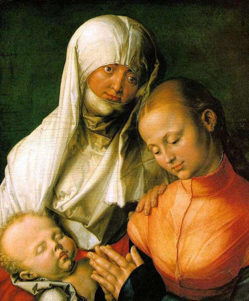 Діва Марія з немовлям і святою Анною   Альбрехт Дюрер