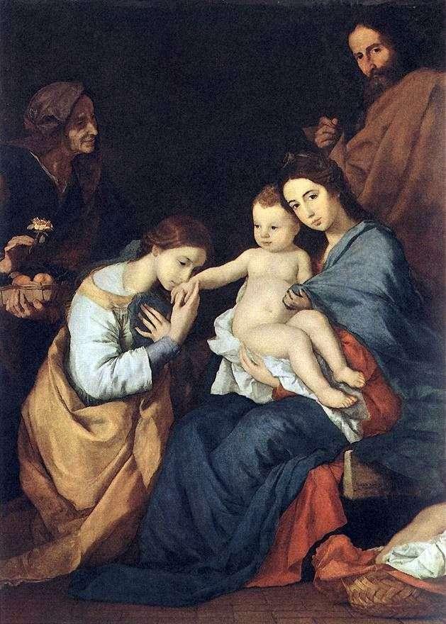 Святе сімейство зі святою Катериною   Хусепе де Рібера