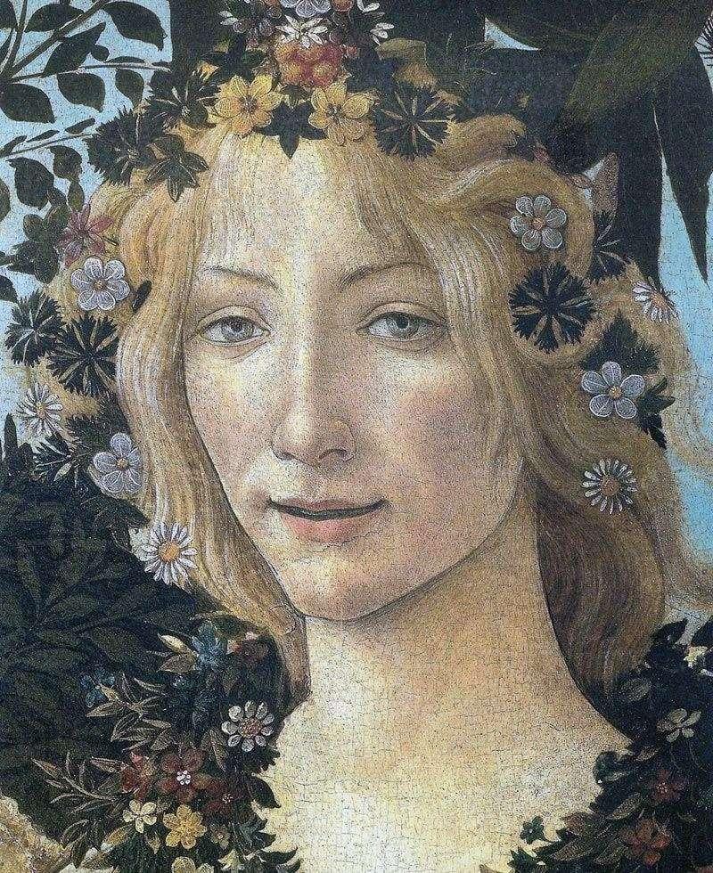 Флора (фрагмент)   Сандро Боттічеллі