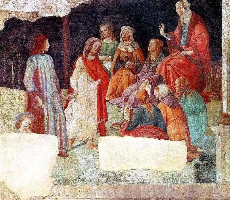Фрески вілли Мачерелли. Лоренцо Торнабуони і Вільні мистецтва   Сандро Боттічеллі