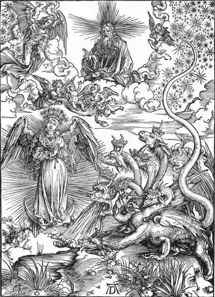 Жінка Сонце і семиголовий Дракон   Альбрехт Дюрер