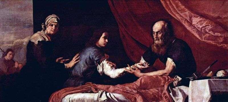 Сліпий Ісаак благословляє Якова   Хусепе де Рібера