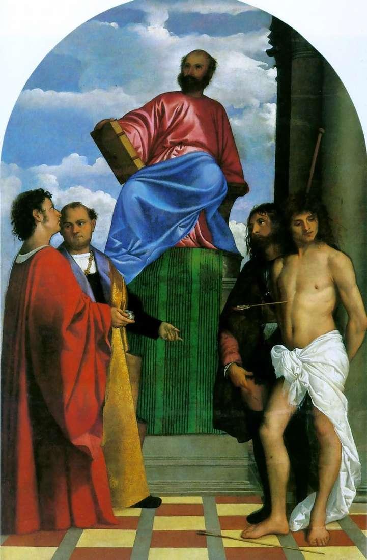Святий Марк на амвоні зі святими   Тіціан Вечелліо