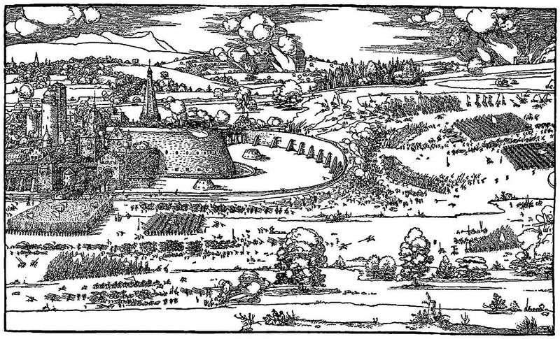Ілюстрація з трактату Керівництво до виміру циркулем і лінійкою   Альбрехт Дюрер