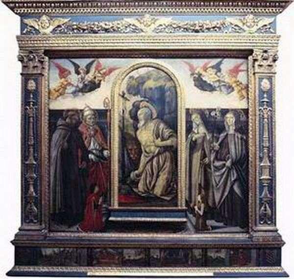 Упокорений св. Ієронім зі святими й донаторами   Франческо Боттичини