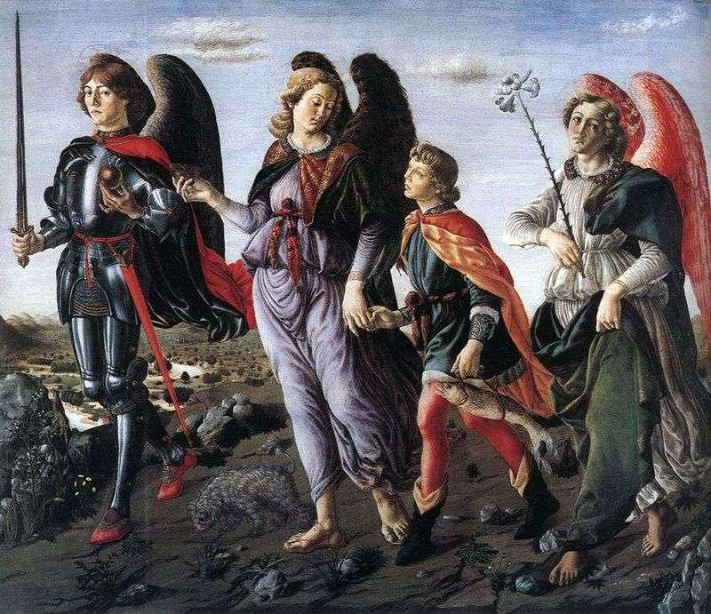 Три Архангела з Товием   Франческо Боттичини