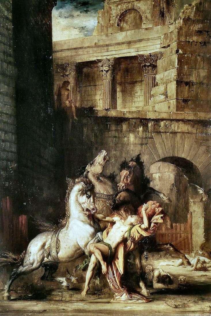 Діомед, пожираемий своїми кіньми   Гюстав Моро