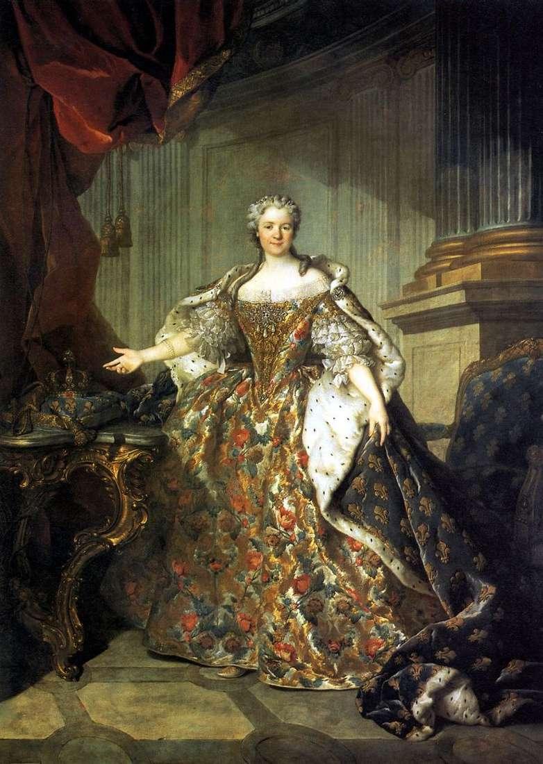 Марія Лещинська, королева Франції, дружина Людовика XV   Луї Токке