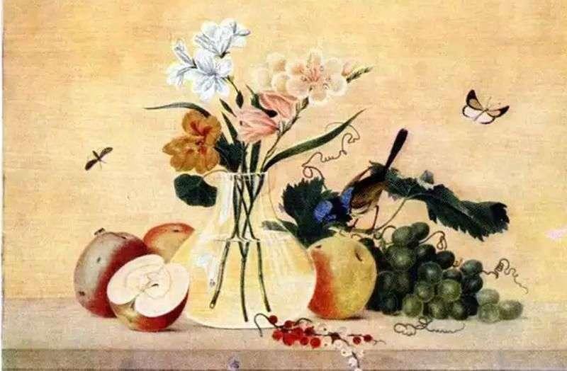 Квіти, фрукти, птах   Федір Толстой