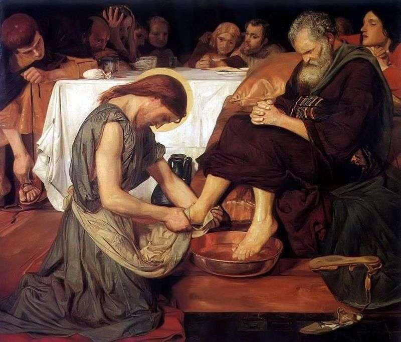 Ісус омиває ноги Петру   Форд Мэдоксон Браун