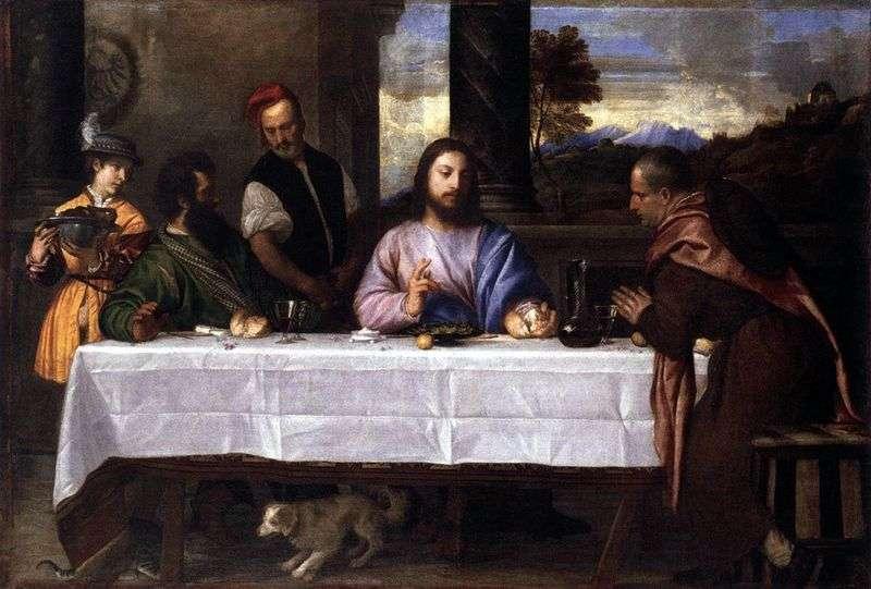 Вечеря в Еммаусі   Тіціан Вечелліо