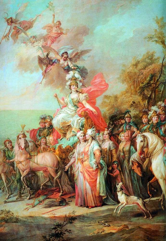 Алегорія на перемогу Катерини II над турками і татарами   Стефано Тореллі