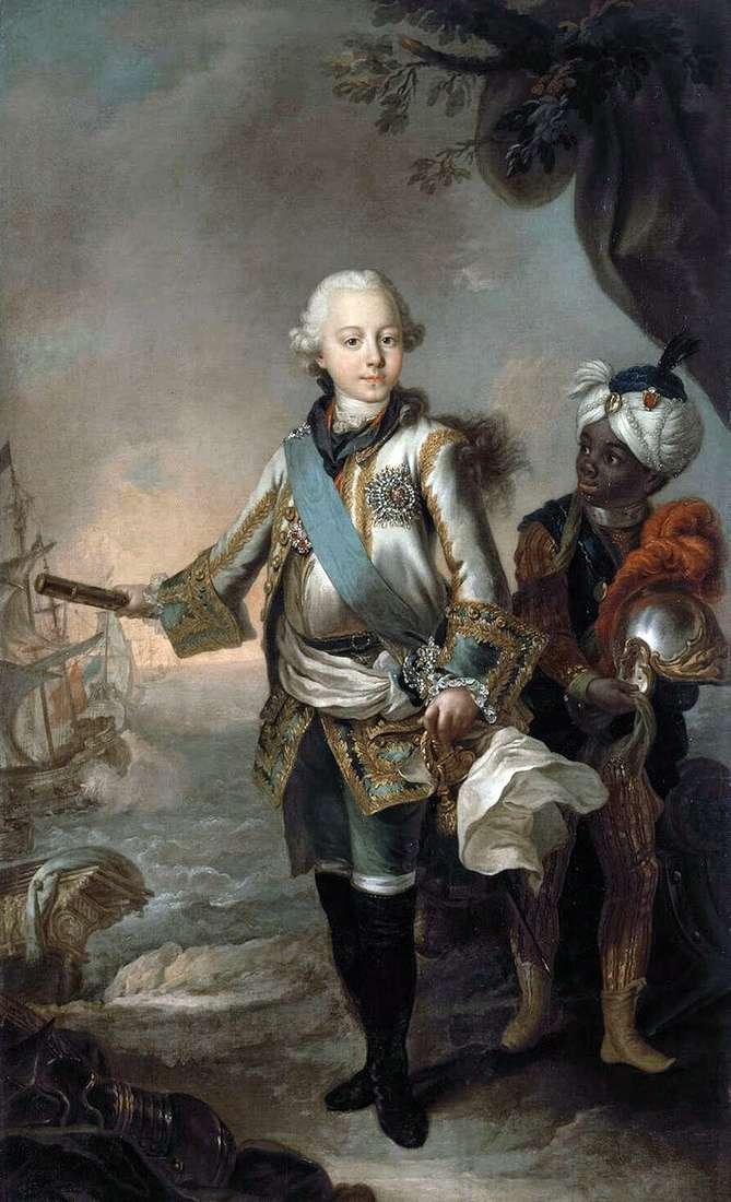 Портрет великого князя Павла Петровича   Стефано Тореллі