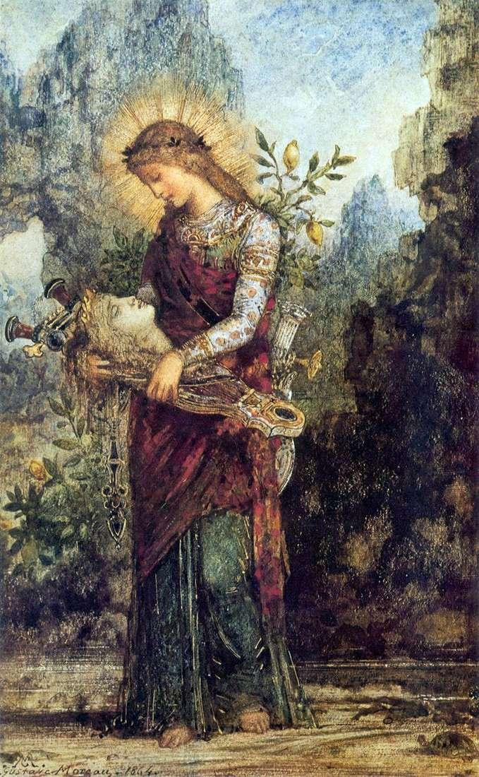 Фракійська дівчина з головою Орфея на його лірі   Гюстав Моро