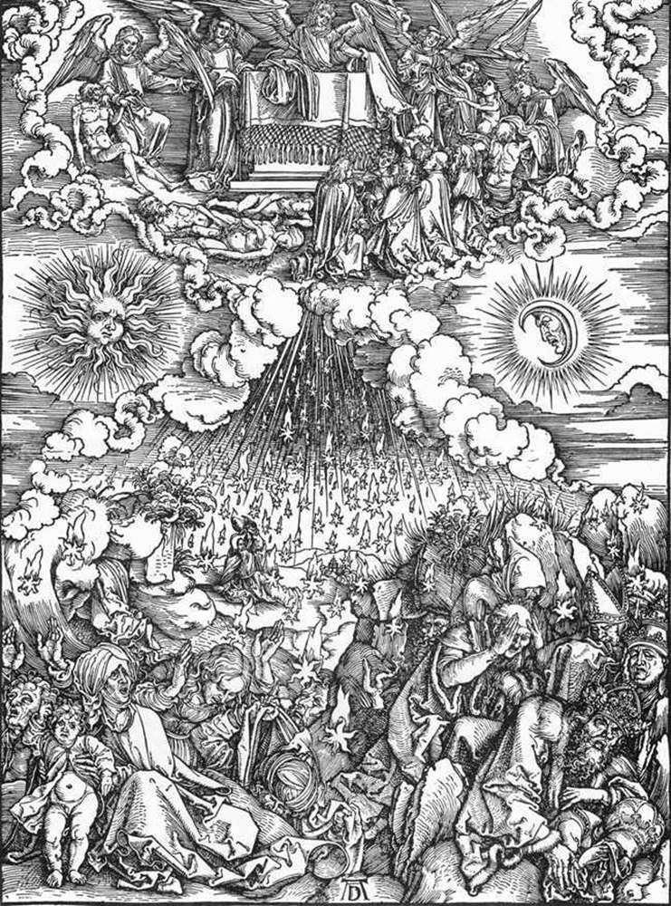 Відкриття пятої та шостої Печаток   Альбрехт Дюрер