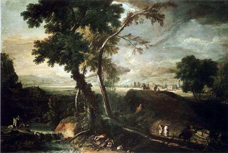 Пейзаж з потоком   Марко Річчі