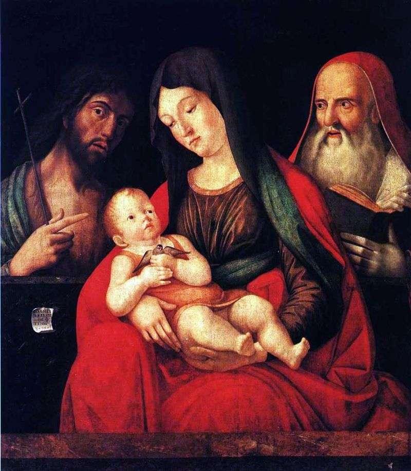 Марія з немовлям, Іоанном Хрестителем і святим Єронімом   Альвізе Виварини