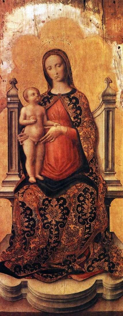 Марія з немовлям на троні   Антоніо Виварини
