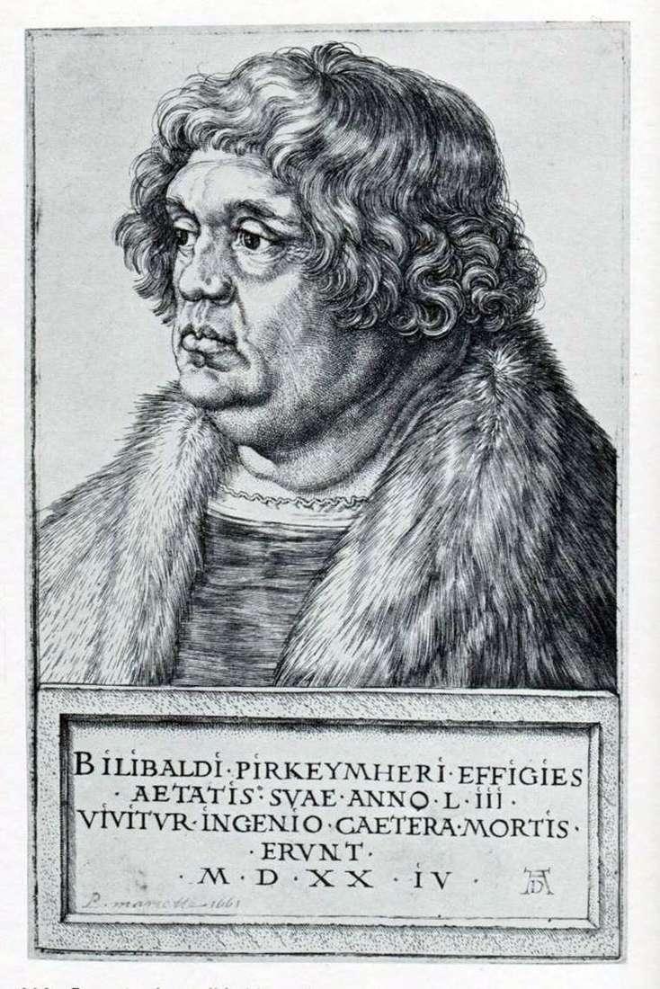 Портрет Віллібальда Піркгеймера   Альбрехт Дюрер