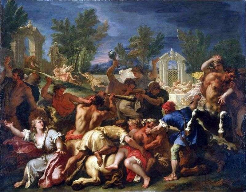 Битва лапифов з кентаврами   Себастьяно Річчі