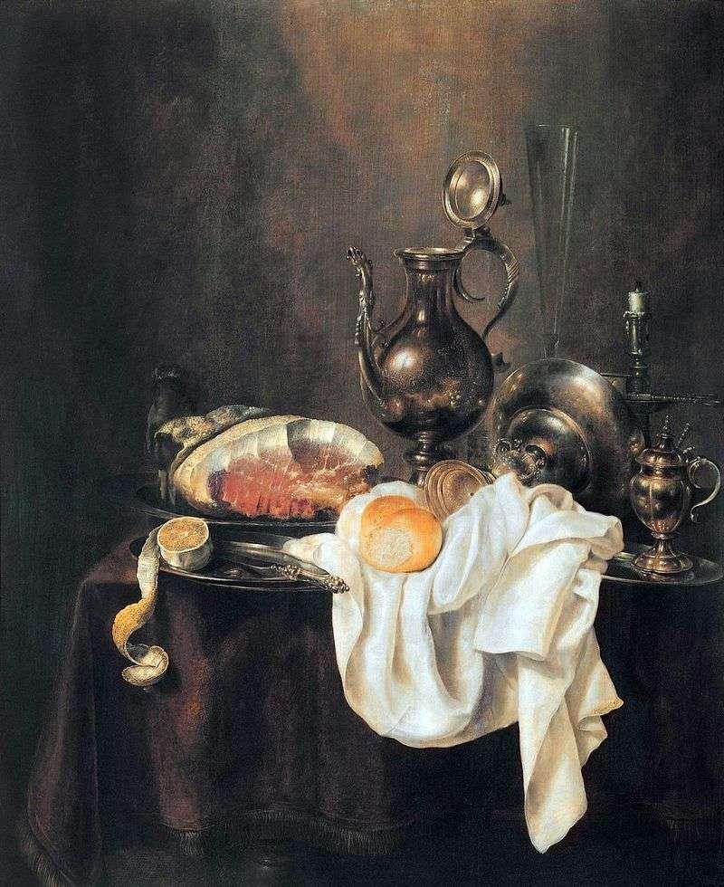 Шинка і срібний посуд   Хеда Герріт Віллемс