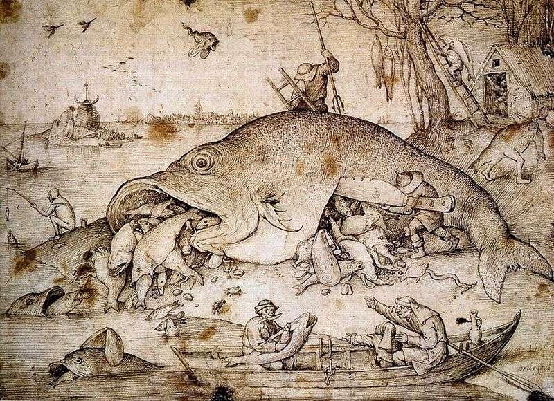 Великі риби поїдають малих   Пітер Брейгель